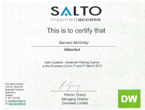 Click here to see Salto Certified Partner Award